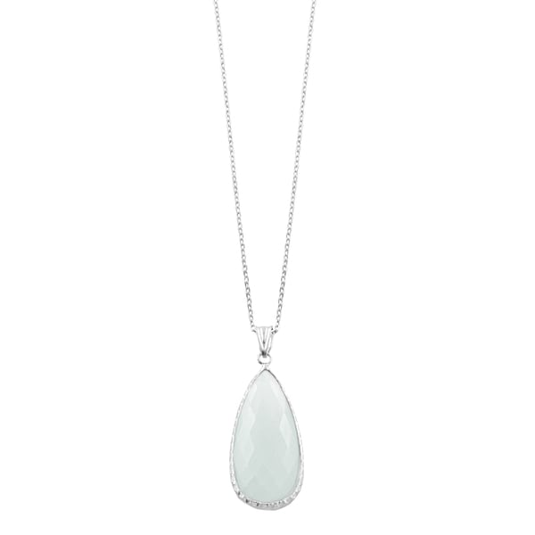 Fremada Sterling Silver Pear-shaped Moonstone Necklace (18 inch)