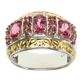 Michael Valitutti Two-tone Pink Tourmaline Ring
