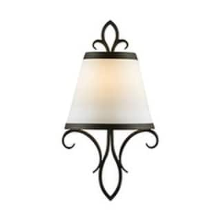 Peyton Single-light Wall Sconce with White Opal Etched Glass Shade