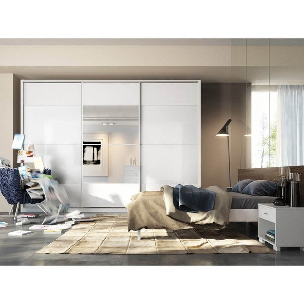 Manhattan Comfort 'Noho' 3-door 8-drawer Wardrobe