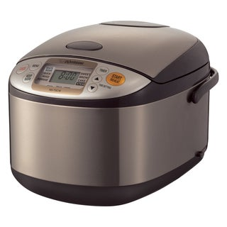 Zojirushi Micom 10-Cup Rice Cooker and Warmer - Stainless Brown