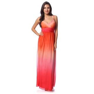 Decode 1.8 Women's Coral Ombre Sleeveless Gown