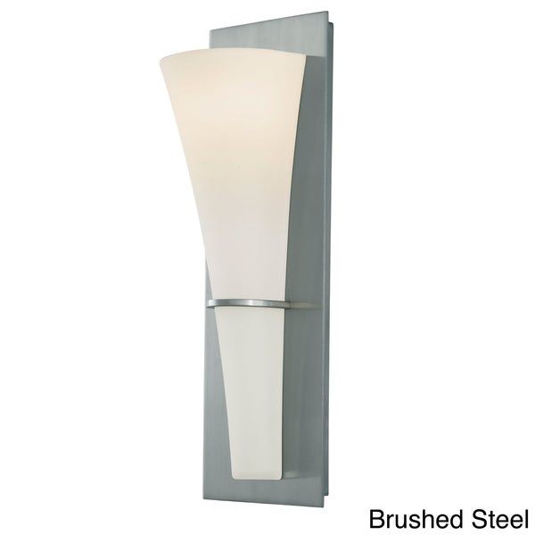 Barrington 1-light Opal Etched Glass Modern Wall Sconce - Overstock Shopping - Top Rated Sconces ...
