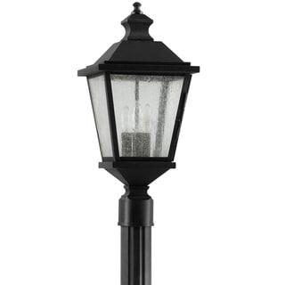 Woodside Hills 3-light Black Outdoor Post Lantern