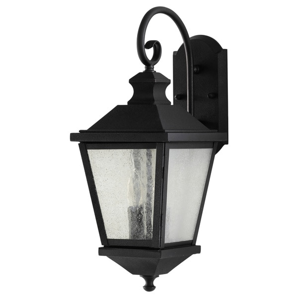 Woodside Hills 2-light Black Outdoor Wall Lantern