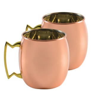 10 Strawberry Street Classic Copper Mug (Set of 2)