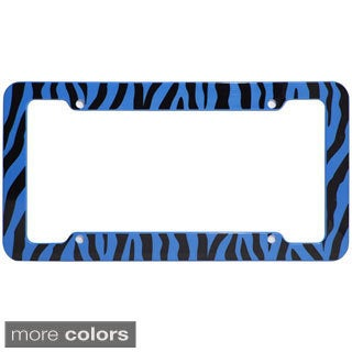 Oxgord Striped Zebra / Tiger Plastic Auto License Plate Frame for Standard US Plates