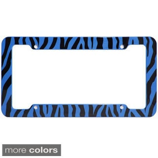 Striped Zebra / Tiger Plastic Auto License Plate Frame for Standard US Plates