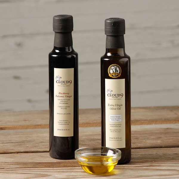 Cloud 9 Orchard Italian Extra Virgin Olive Oil (Best in Class) and Blackberry Balsamic Vinegar