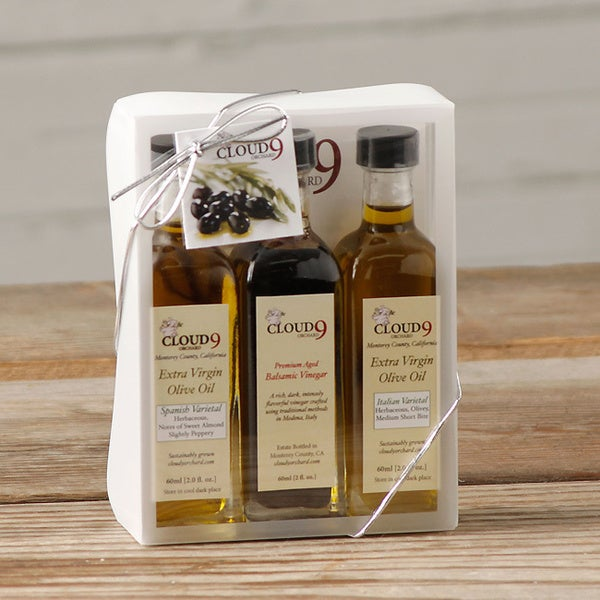 Cloud 9 Extra Virgin Olive Oil and Balsamic Vinegar (Pack of 3)