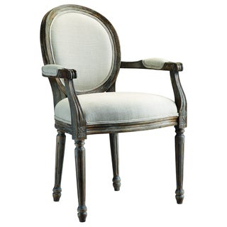 Singleton Weathered Grey/ Ivory Upholstered Chair