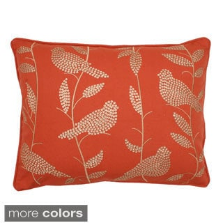 Jenna Sequin Bird and Leaves Down Fill Pillow