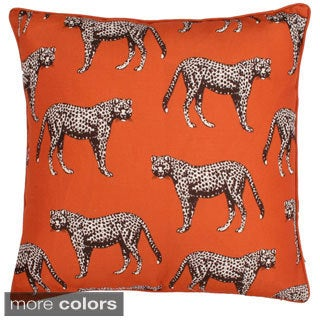 Cheetah Reversible 20-inch Feather Filled Throw Pillow