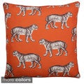 20-inch Square Tiger Reversible Down Fill Throw Pillow