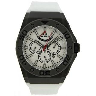 TW Steel Men's 'CEO' Diver White Strap Watch
