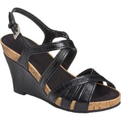 Women's A2 by Aerosoles Candyplush Black Faux Leather