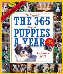The 365 Puppies-a-Year 2015 Calendar (Calendar)