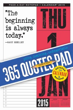 365 Quotes Notepad and 2015 Calendar (Calendar)
