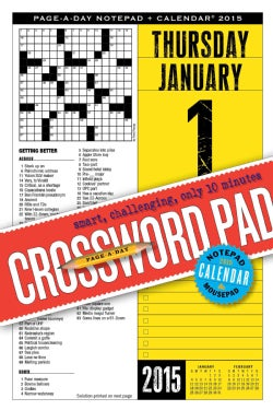 Crossword Notepad and 2015 Calendar (Calendar)