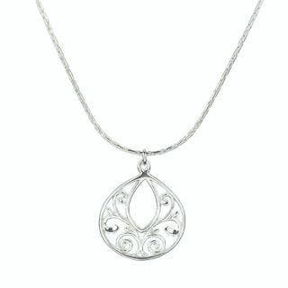 Jewelry by Dawn Sterling Silver Fancy Filigree Teardrop Necklace