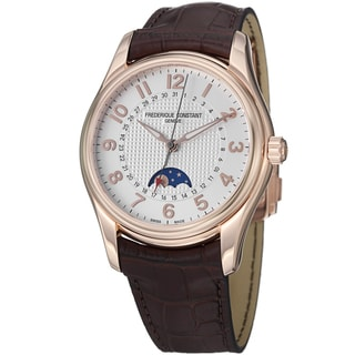 Frederique Constant Men's FC-330RM6B4 'RunAbout' Brown Leather Strap Watch