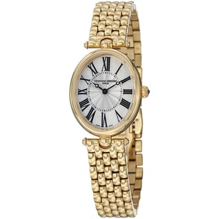 Frederique Constant Women's FC-200MPW2V5B 'Art Deco' Goldtone Stainless Steel Watch