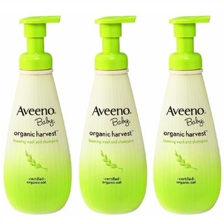 Aveeno Baby Organic 8-ounce Harvest Wash/ Shampoo (Pack of 3)