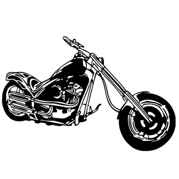 Harley Chopper Bike Vinyl Wall Decal