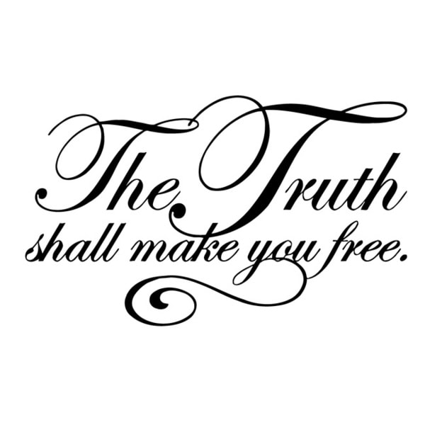 'The Truth Shall Make You Free' Vinyl Wall Decal