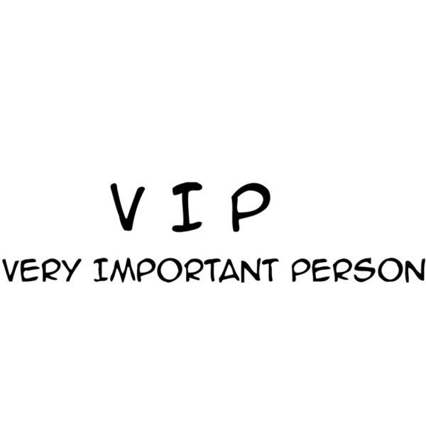 'VIP Very Important Person' Vinyl Wall Decal