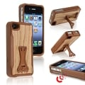 BasAcc Wood Grain Sound Boost Case with Stand for Apple� iPhone 4/ 4S