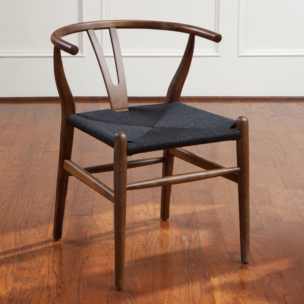 Christopher Knight Home Felix Wood Black Accent Chair