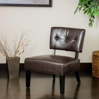 Christopher Knight Home Griffin Brown Bonded Leather Accent Chair