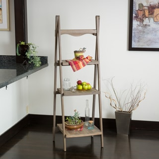 Mabel Sandblast Finish Three Tier Ladder Shelf
