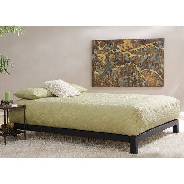 Aura Matte Black Platform Bed