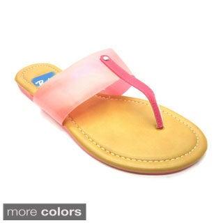 Blue Women's 'Narl' Banded Flat Sandals