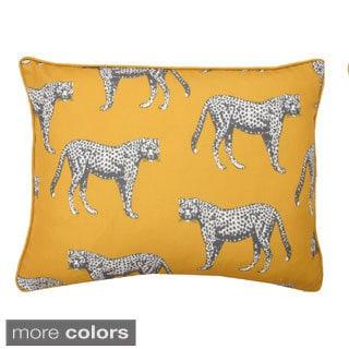 Cheetah Reversible Down Filled Throw Pillow