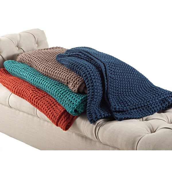 Knitted Design Throw Blanket