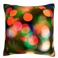 Christmas Lights 18-inch Velour Throw Pillow