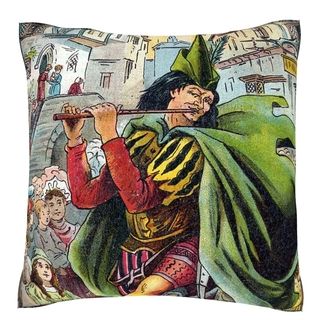 Pied Piper Leading Children 18-inch Velour Throw Pillow