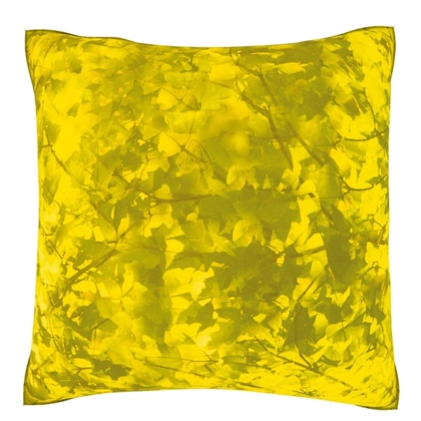 Abstract Yellow Background 18-inch Velour Throw Pillow