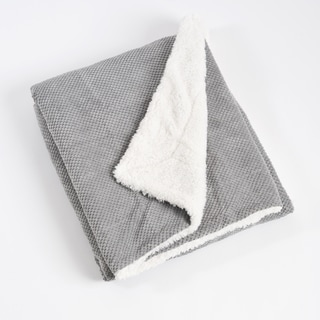 Corduroy and Sherpa Design Throw