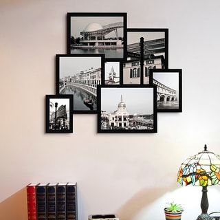 7-opening Black 3D Collage Picture Frame