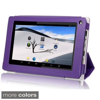 iView SupraPad 8GB 7-inch Dual-Core Android 4.2 Tablet PC with Blue Leather Case