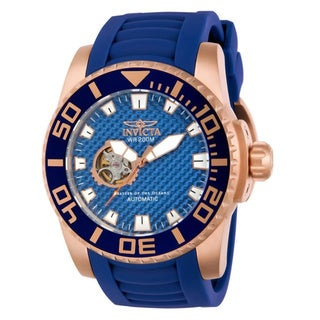 Invicta Men's14683 Blue Pro Diver Automatic Skeleton Watch