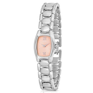 Seiko Women's Peach Dial Stainless Steel Watch