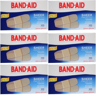 Band-Aid Sheer Comfort-Flex 100-count Bandages (Pack of 6)