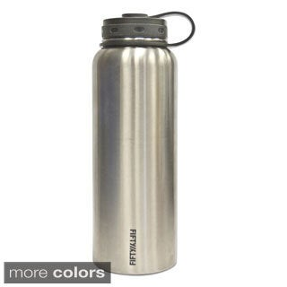 Fifty/Fifty 40-ounce Double Wall Vacuum Insulated Stainless Steel Water Bottle