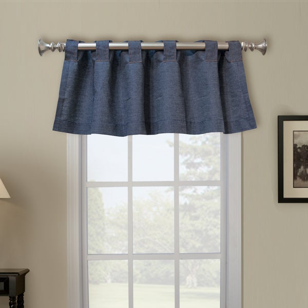 Denim Belt Loop Window Valance
