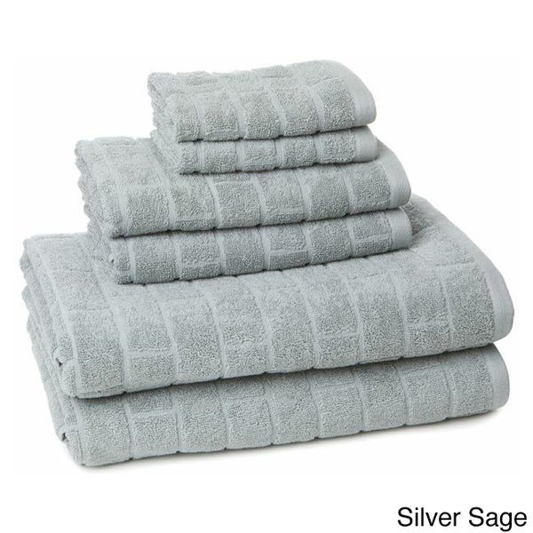 100-Percent Cotton 6-Piece Tiles Towel Set